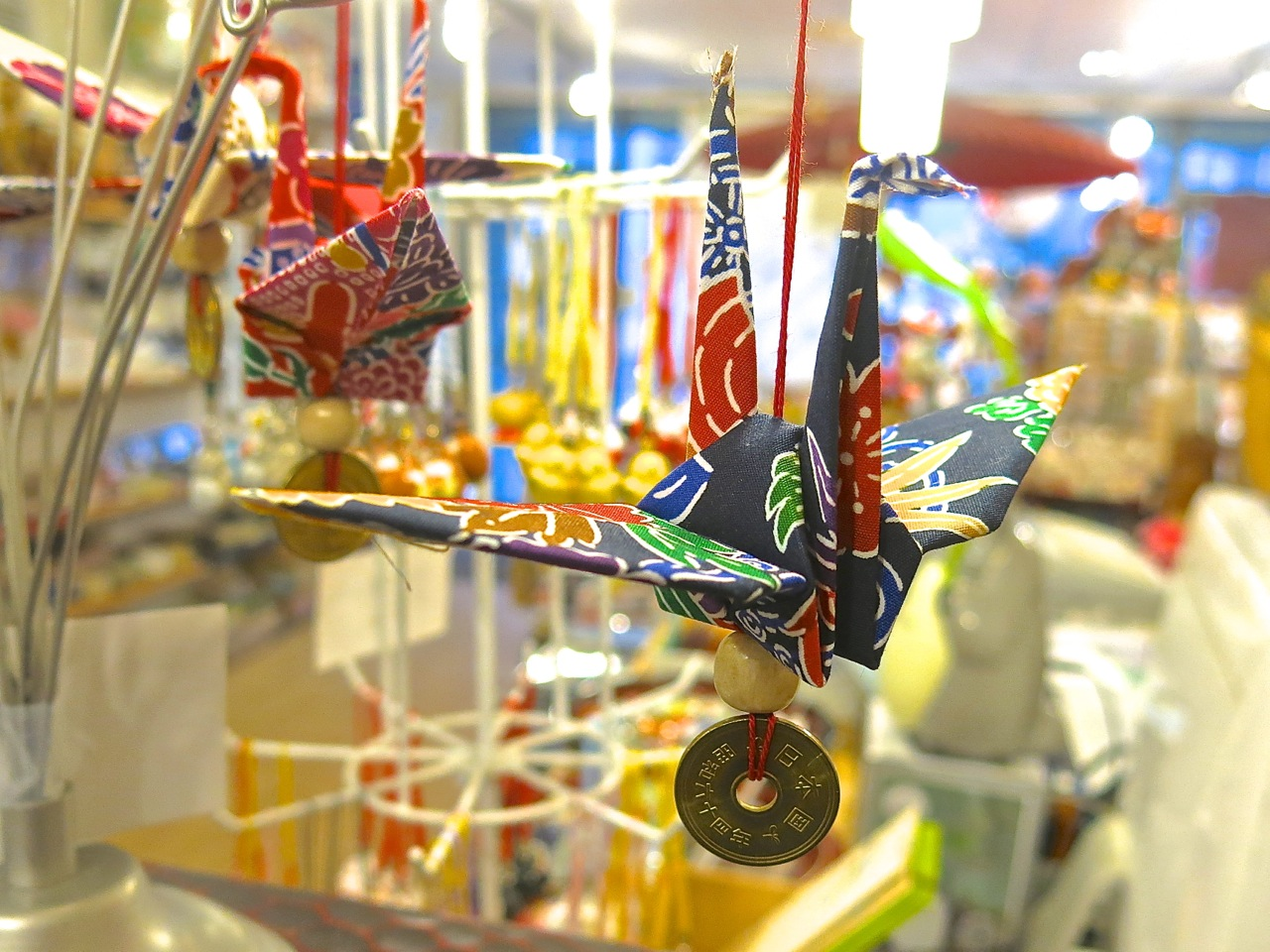 A crane ornament to display in your home or office.