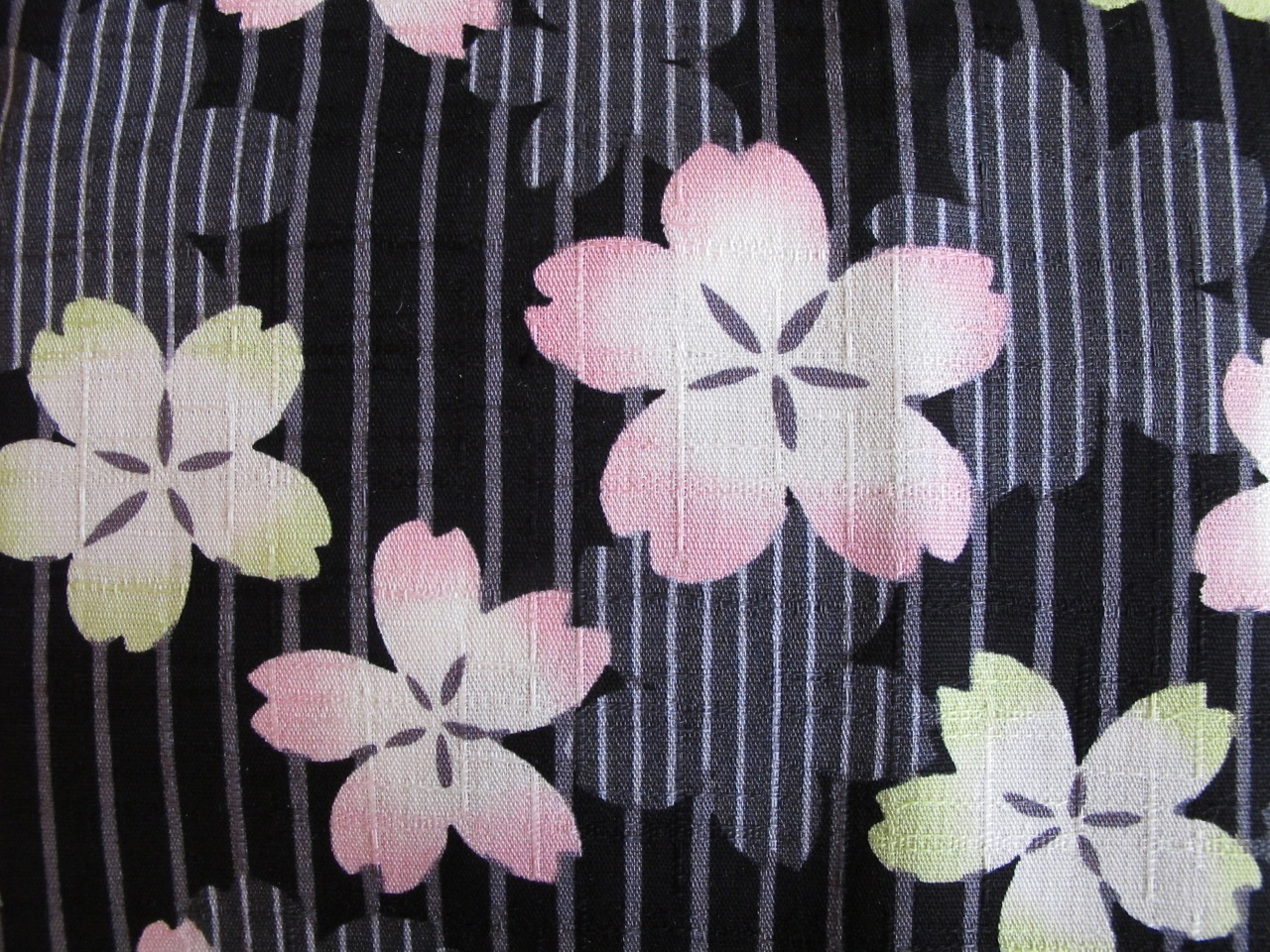 Cherry blossoms on fabric