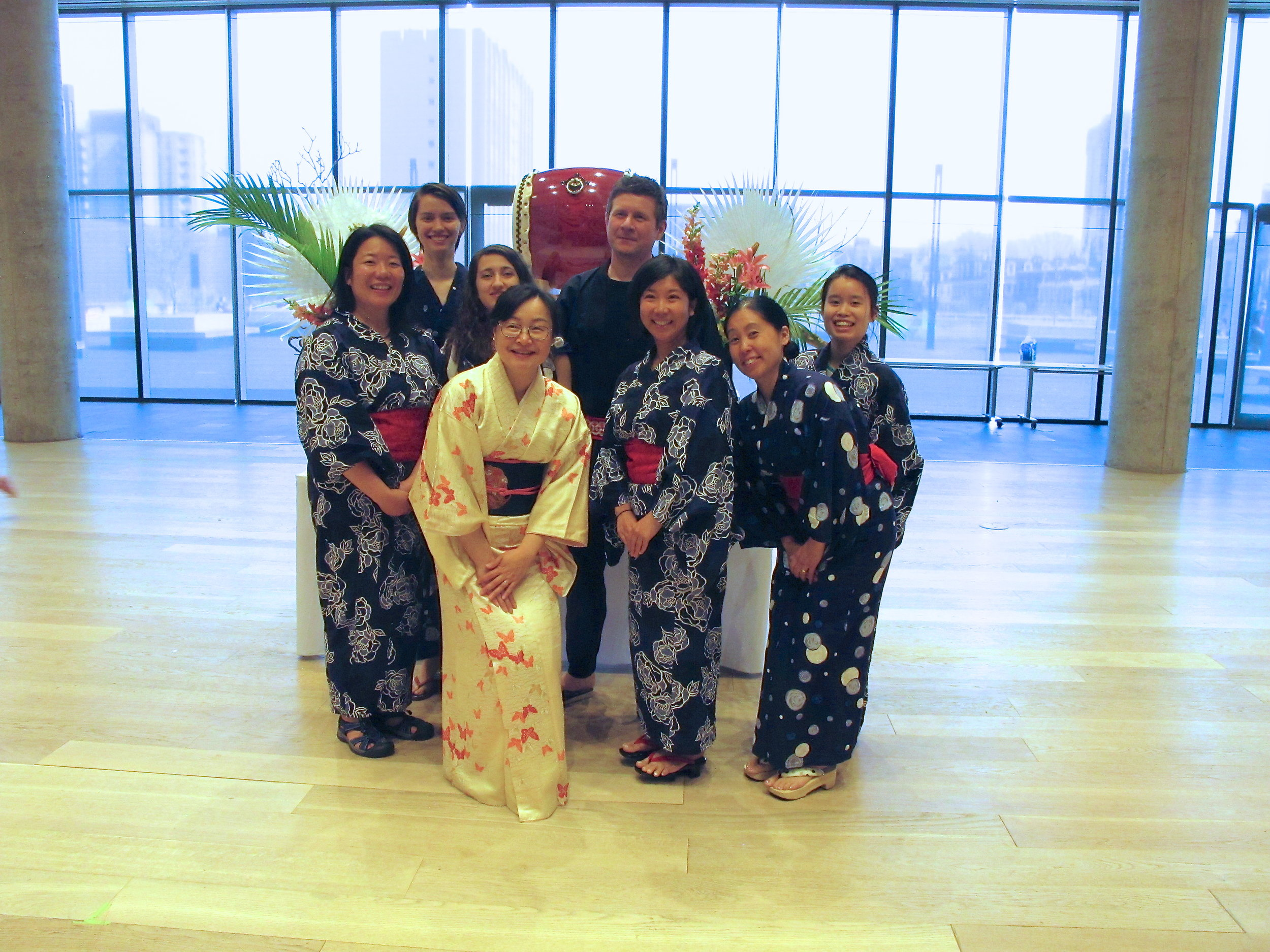 Here's a fun photo with the St. Mary's University Wadaiko (Japanese drums) group. They gave a very exciting performance too!