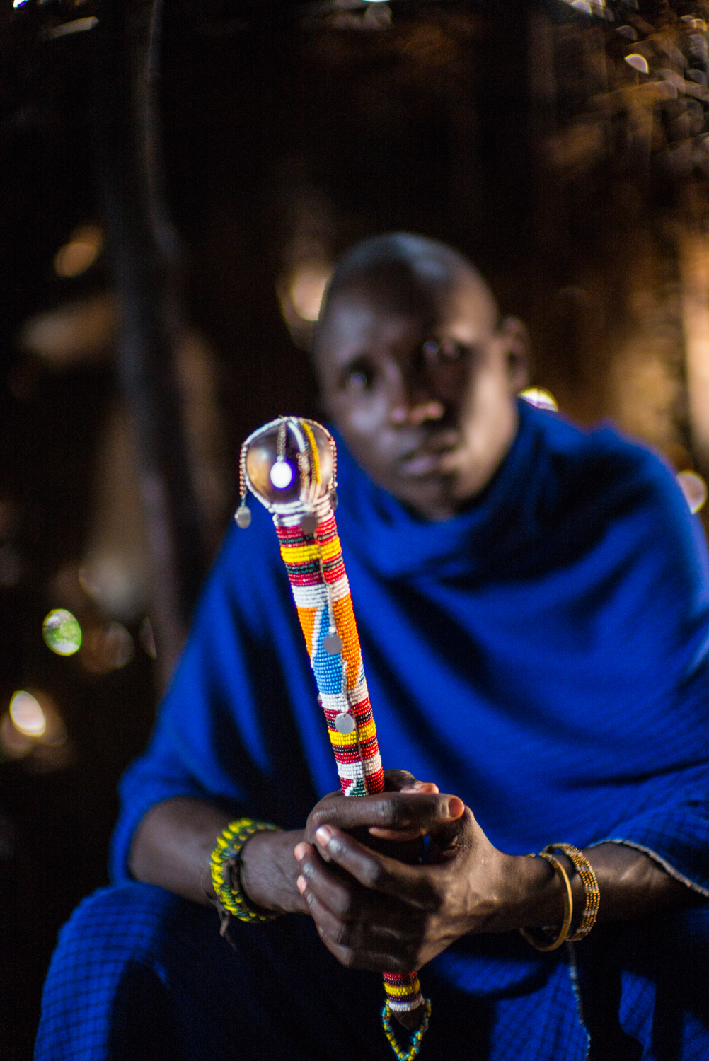 Maasai Man with Club