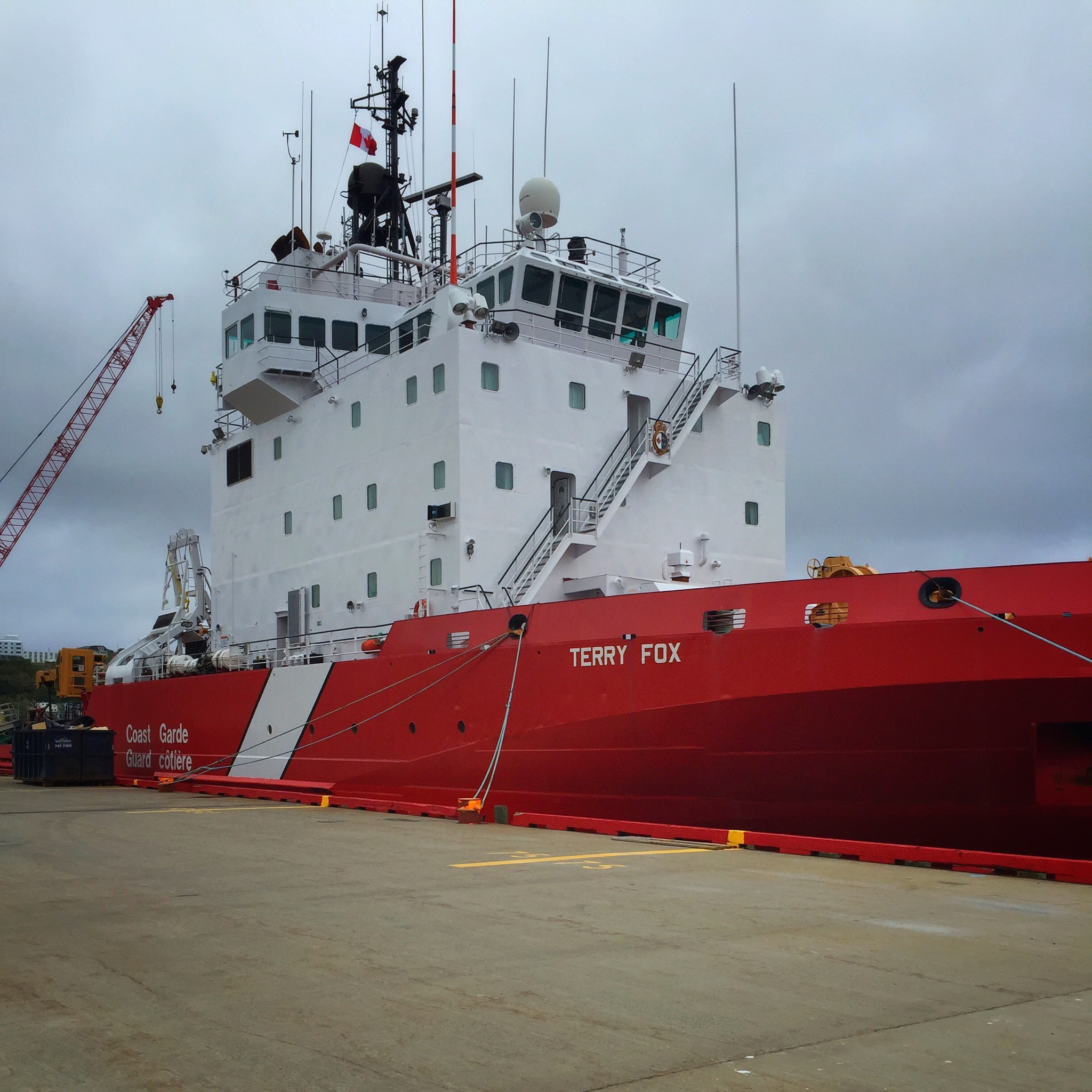 Canadian Coast Guard Ship Docked in Harbour