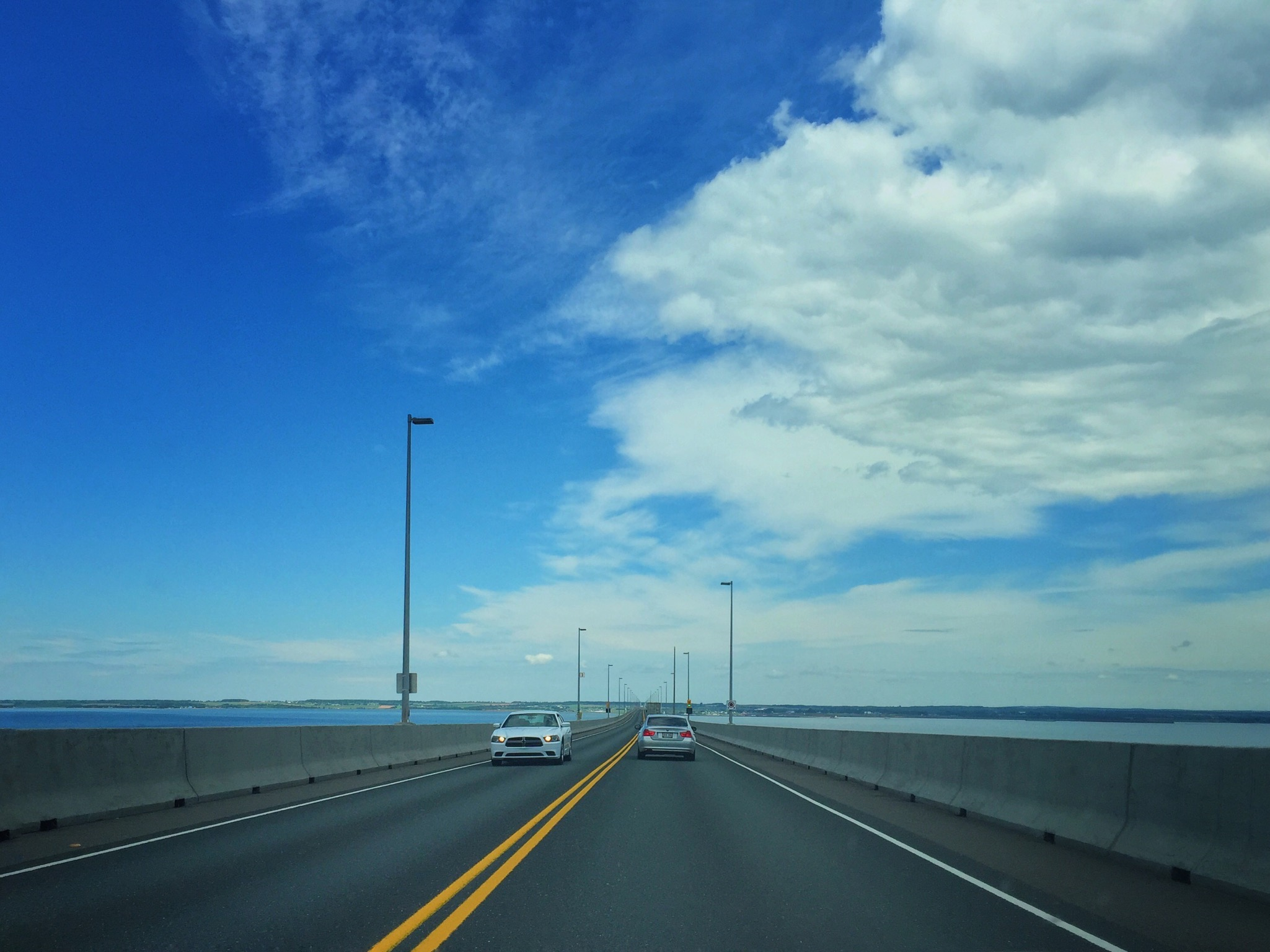 Crossing the Confederation Bridge into PEI