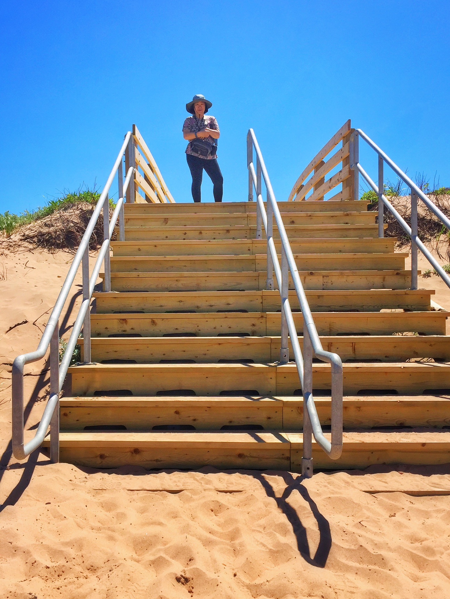 Stairs to Beach at PEI National Park