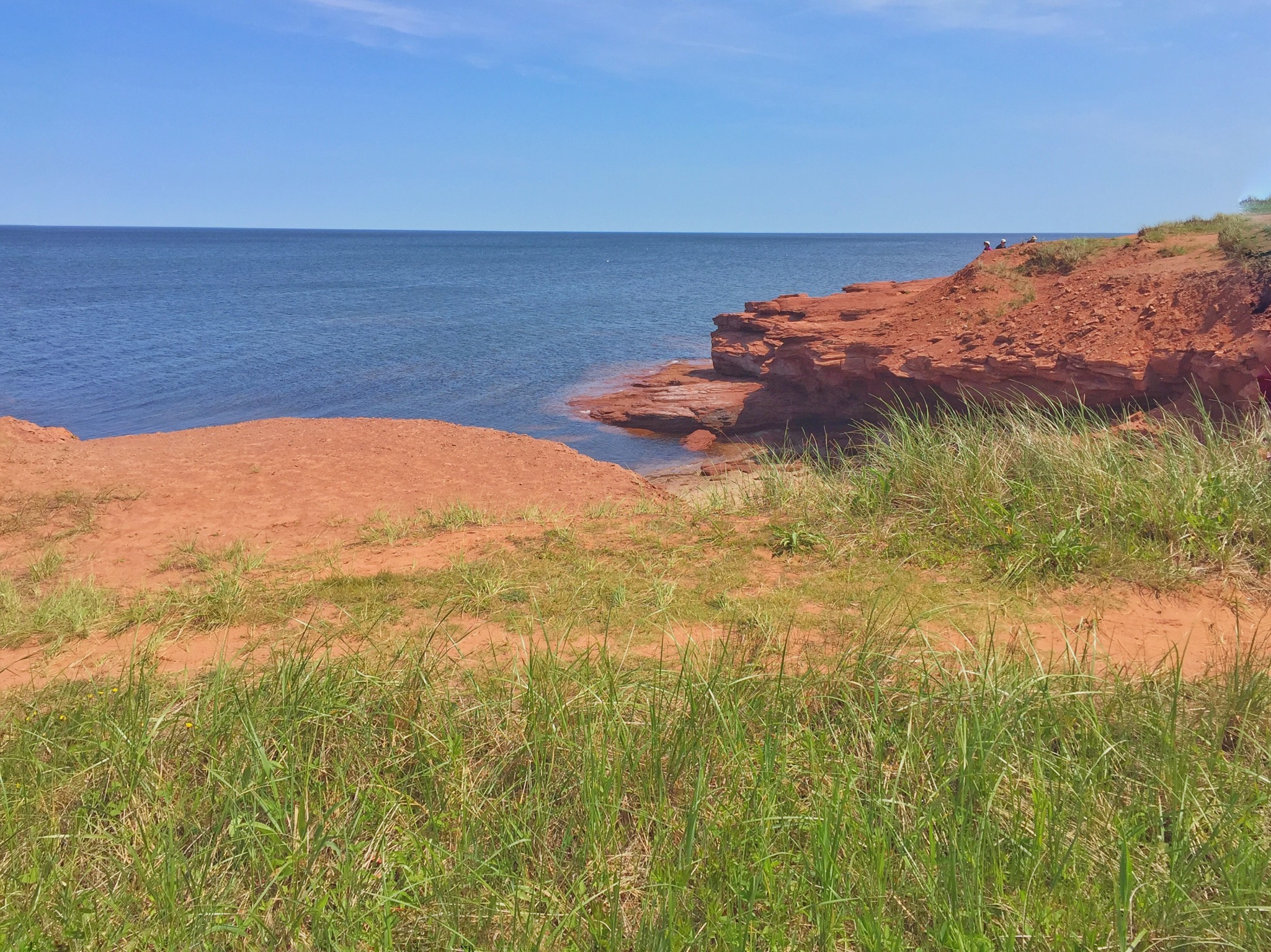 Red Sandstone Cliffs on North Shore