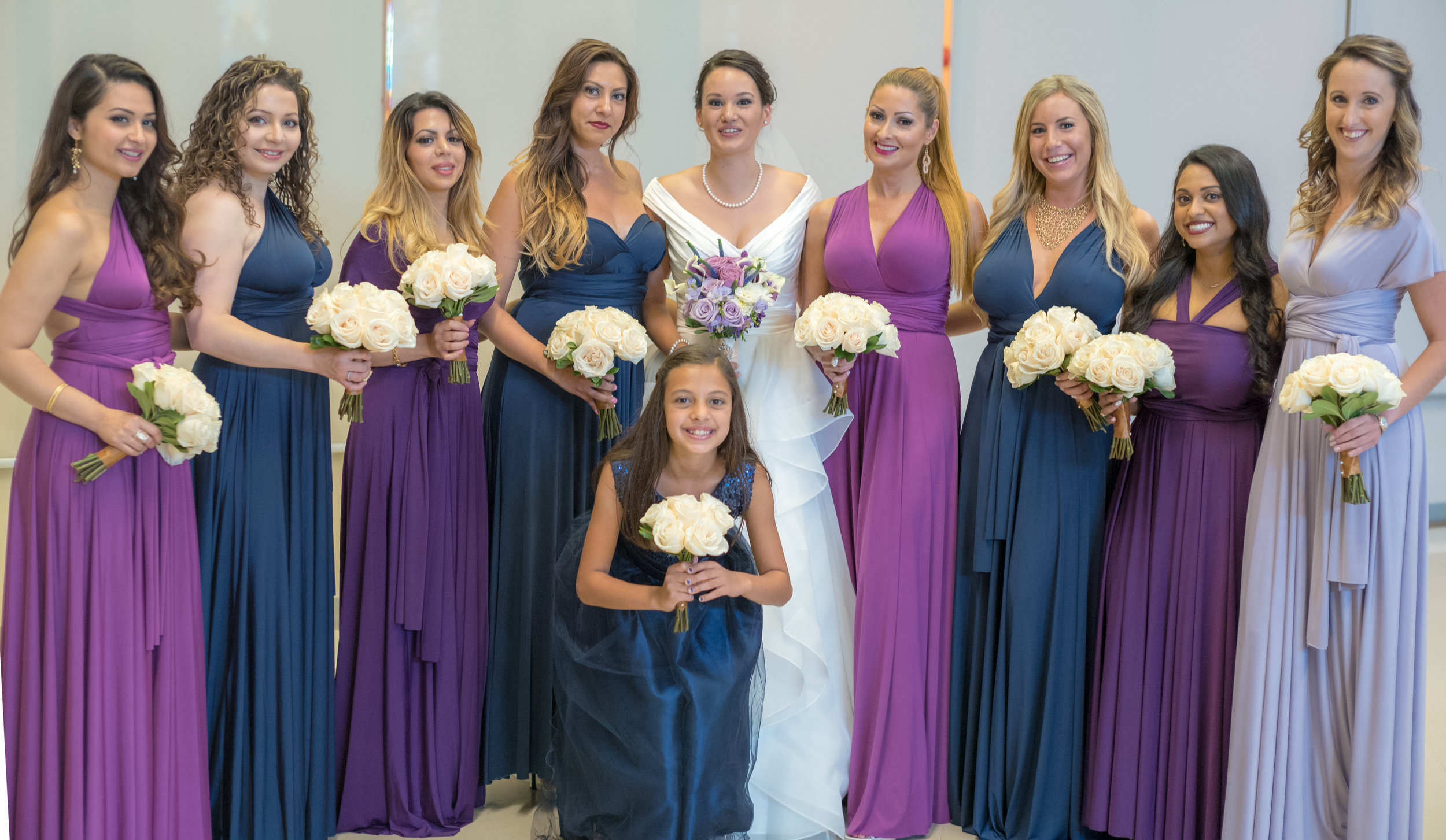 The team: Bride's Maids, Junior Bride's Maid and Maid of Honour