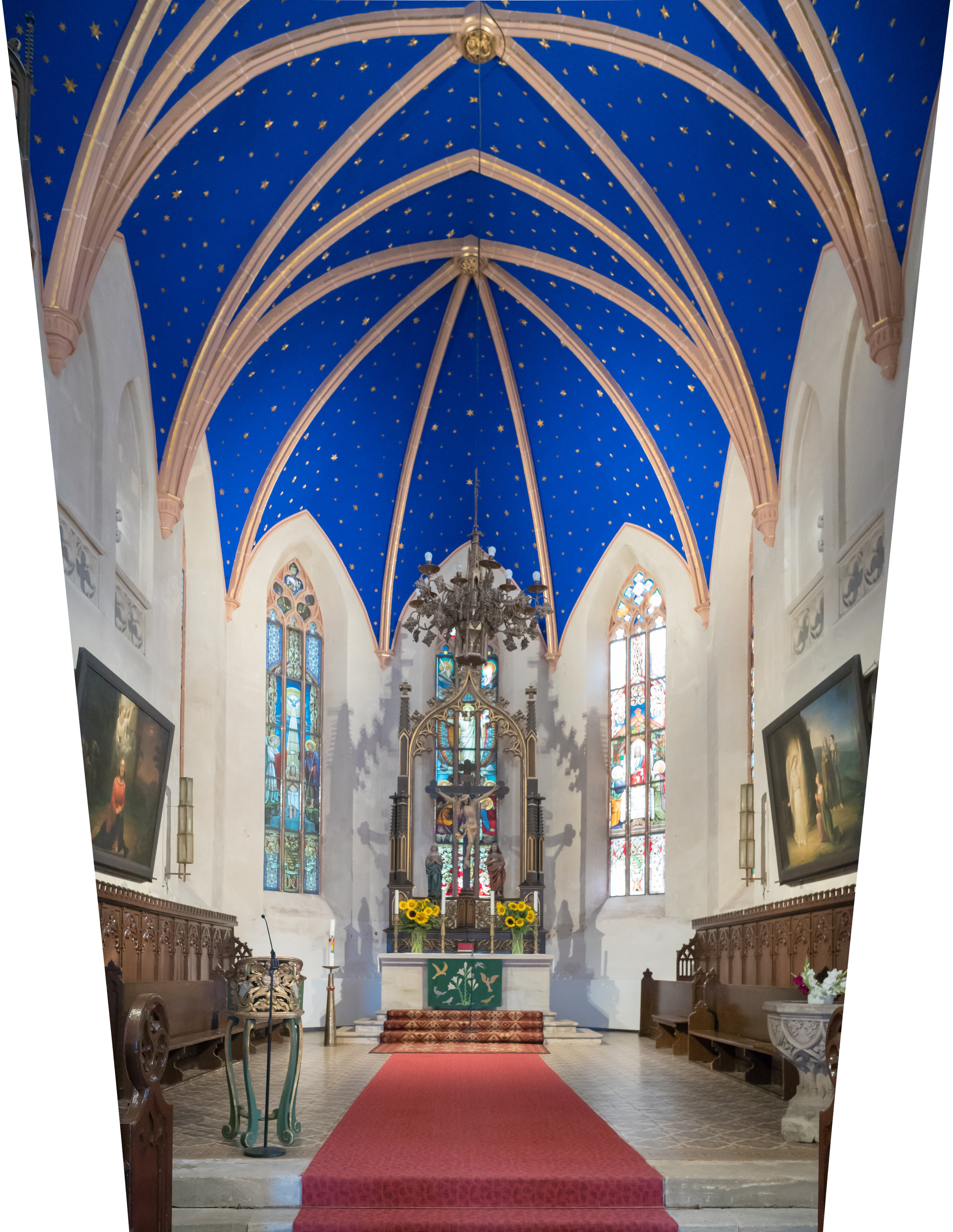 Stadtkirche St. Peter: Interior of church where my father was christened