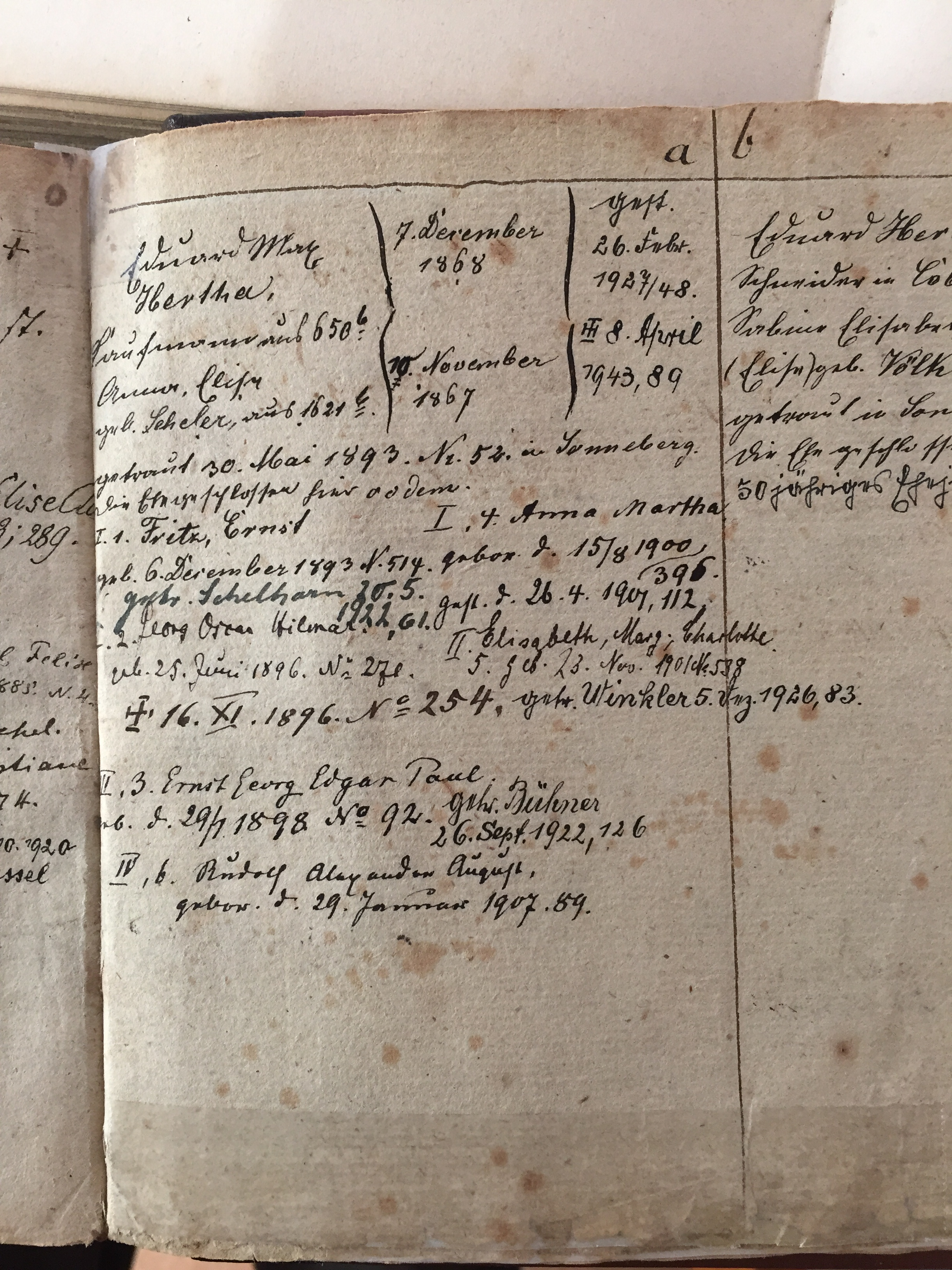 Church Record of my Great Grandfather (Max Hertha)