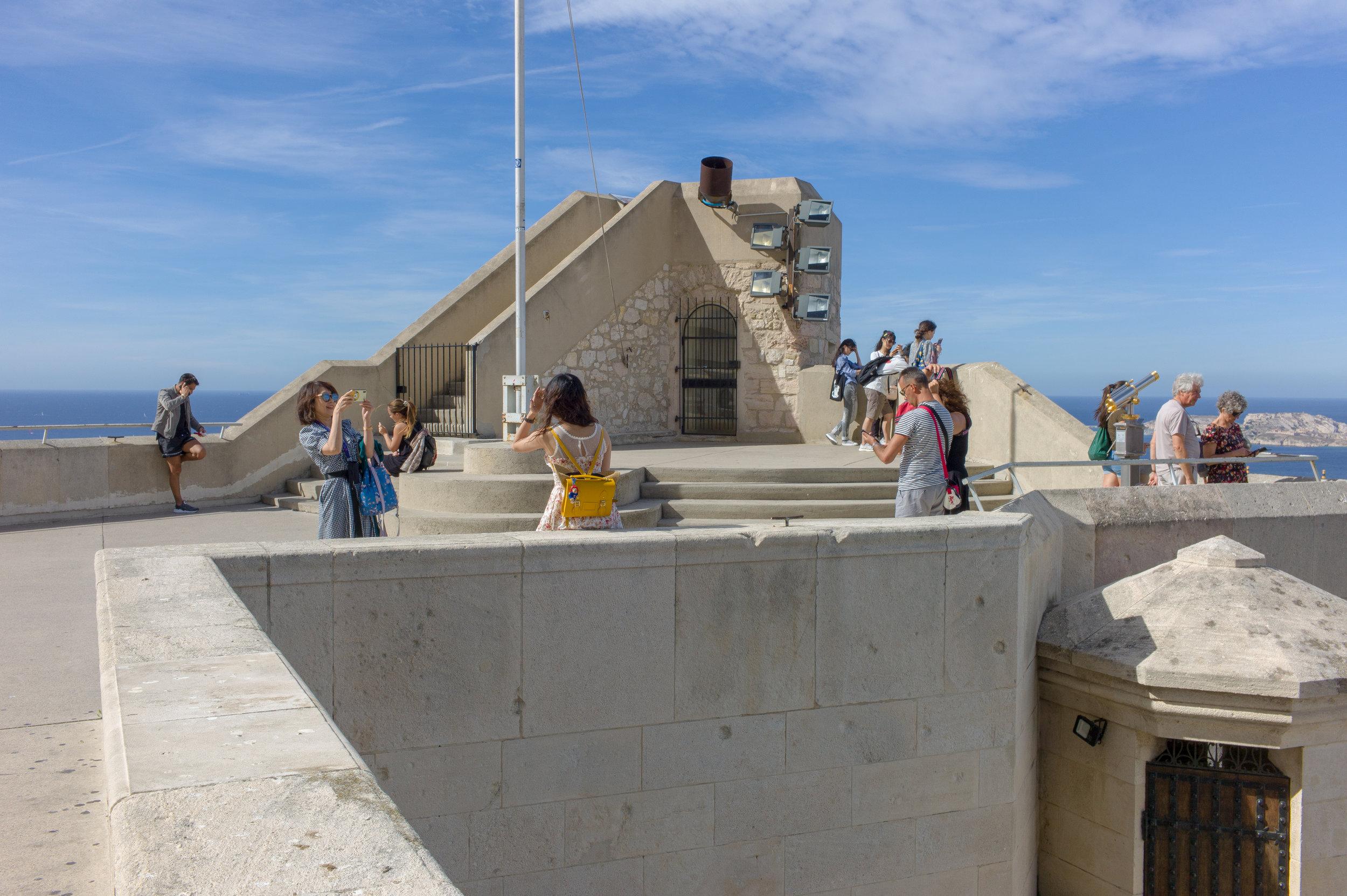 Tourists: Notre-Dame de la Garde