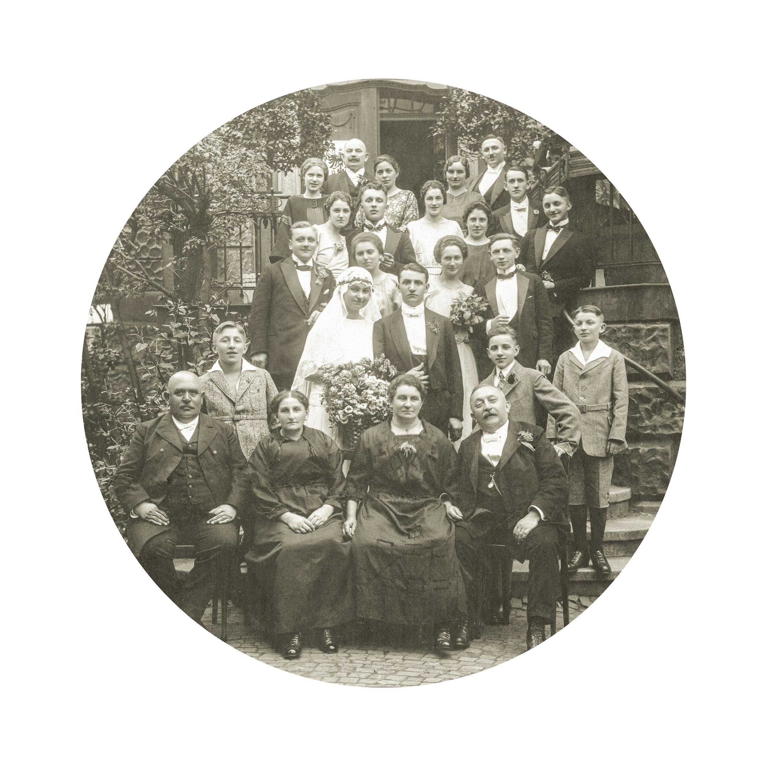 Grandparent's Wedding, Sonneberg, 1922