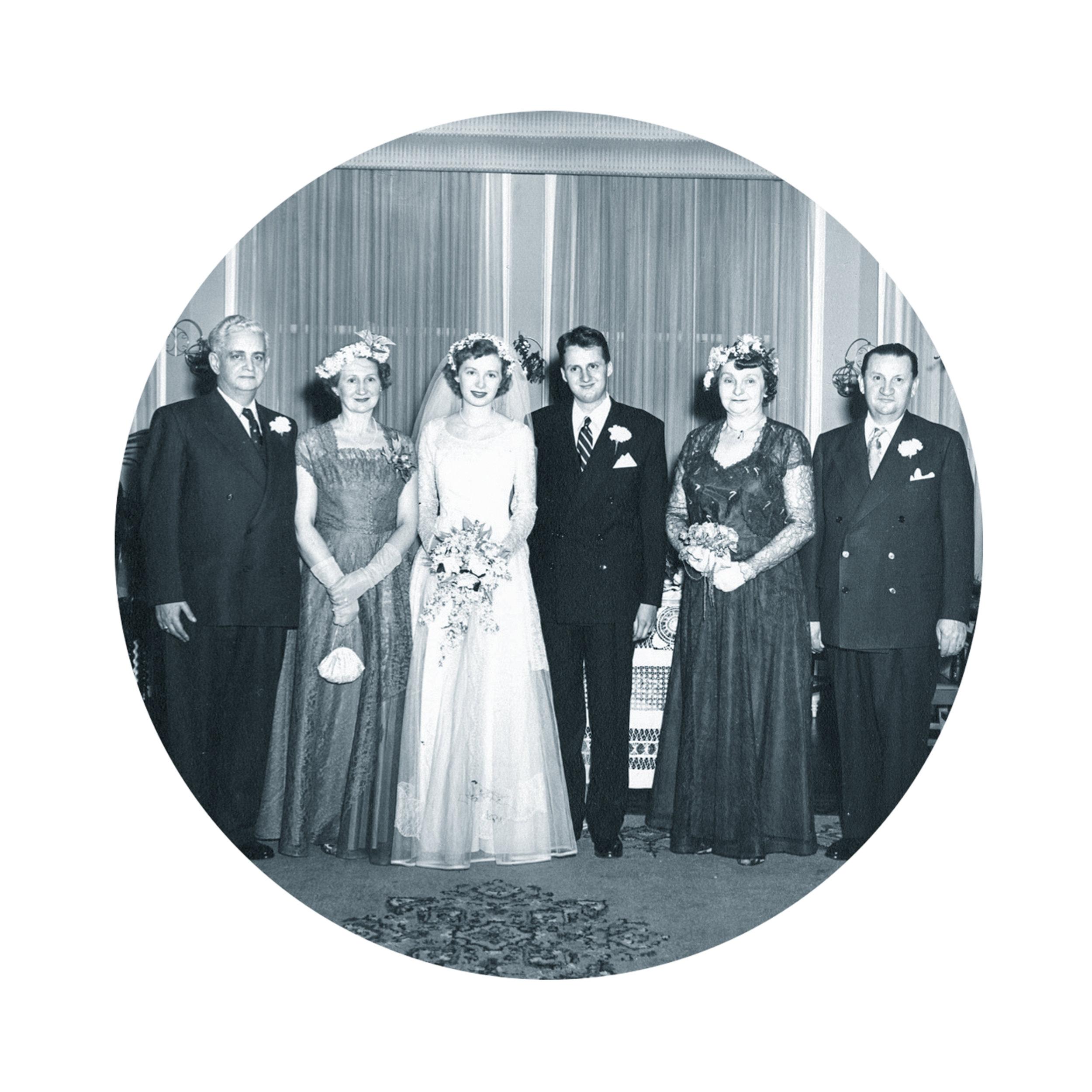 Parent's Wedding, Toronto, 1952