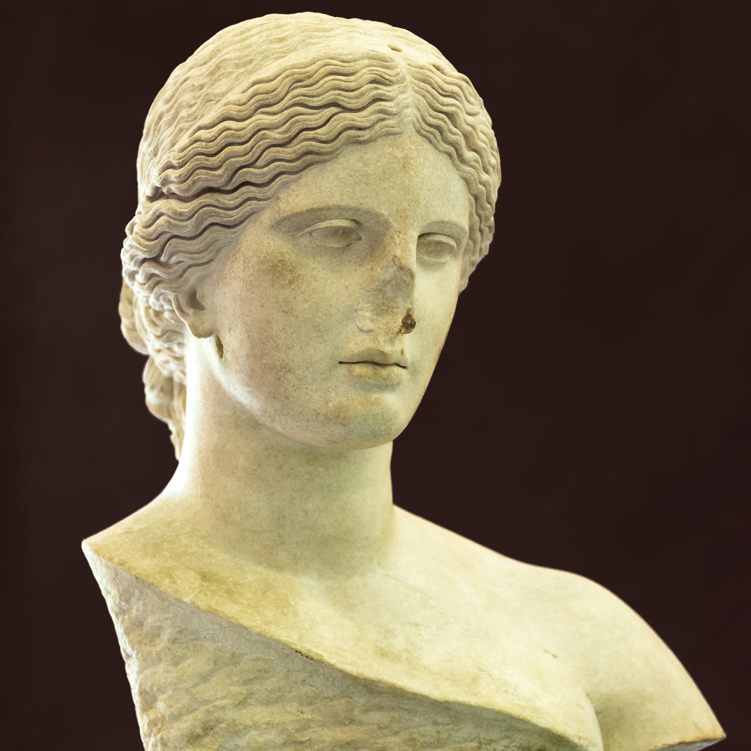 Face of the past. 1st Century bust of Aphrodites