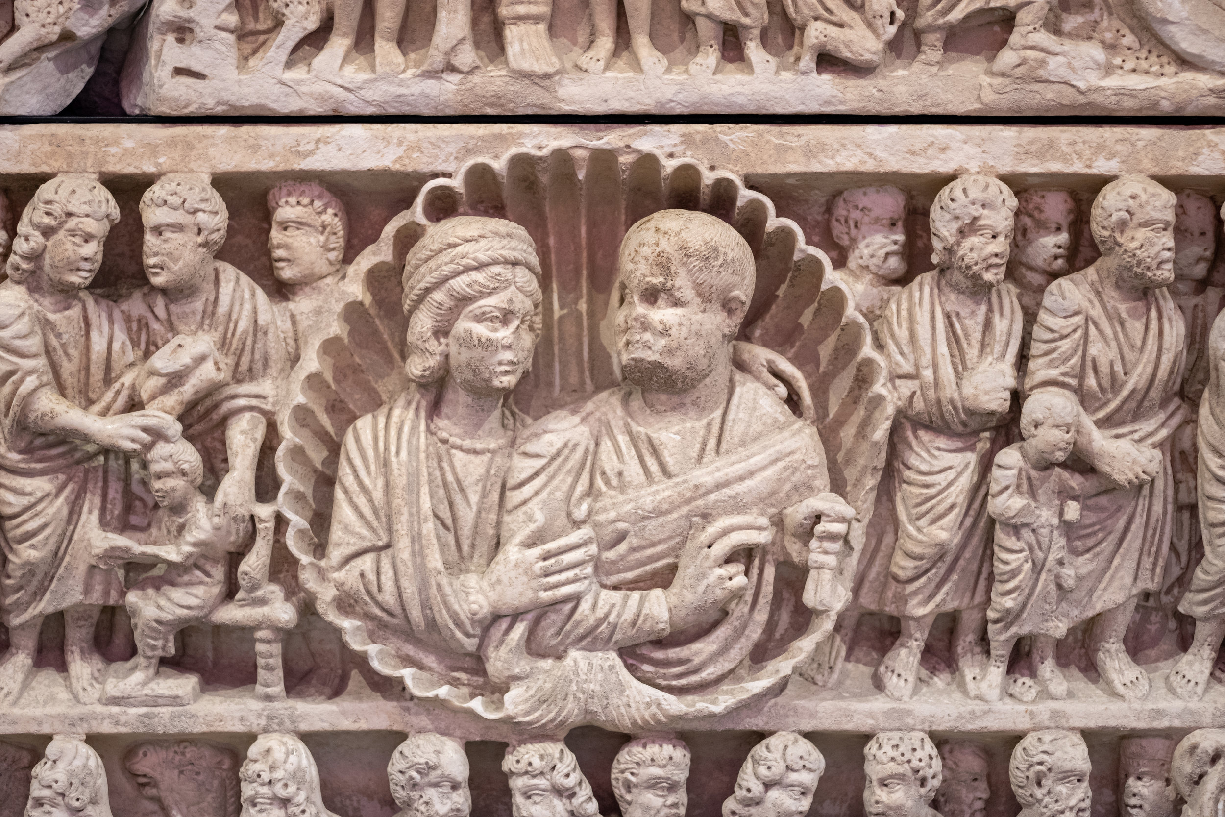 3rd C Sarcophagus, Musée Départmental de l'Arles Antique, Arles, France