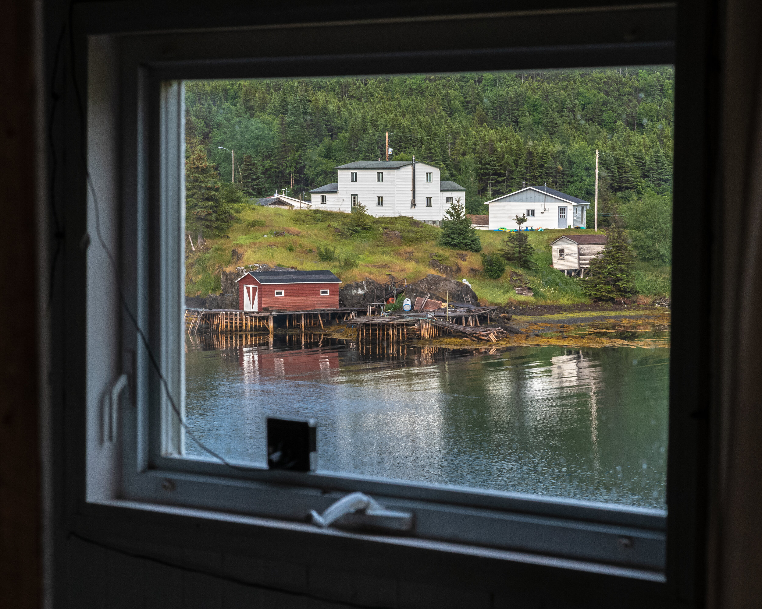 View of Roger's Cove from bed room window