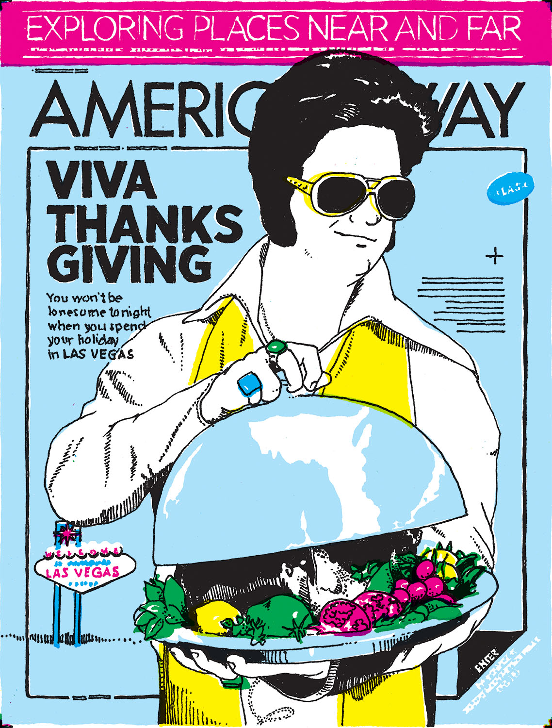 American Way 's November 15, 2012, cover looks a little something like this.