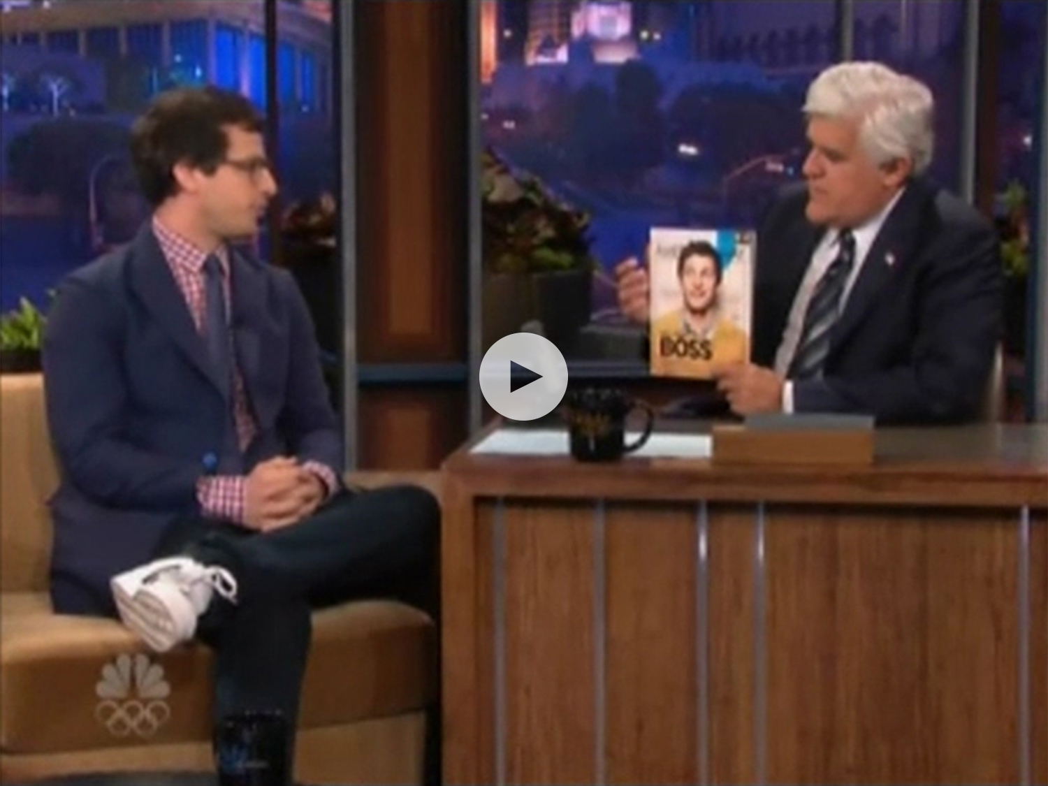 From left: Andy Samberg,  American Way  and Jay Leno