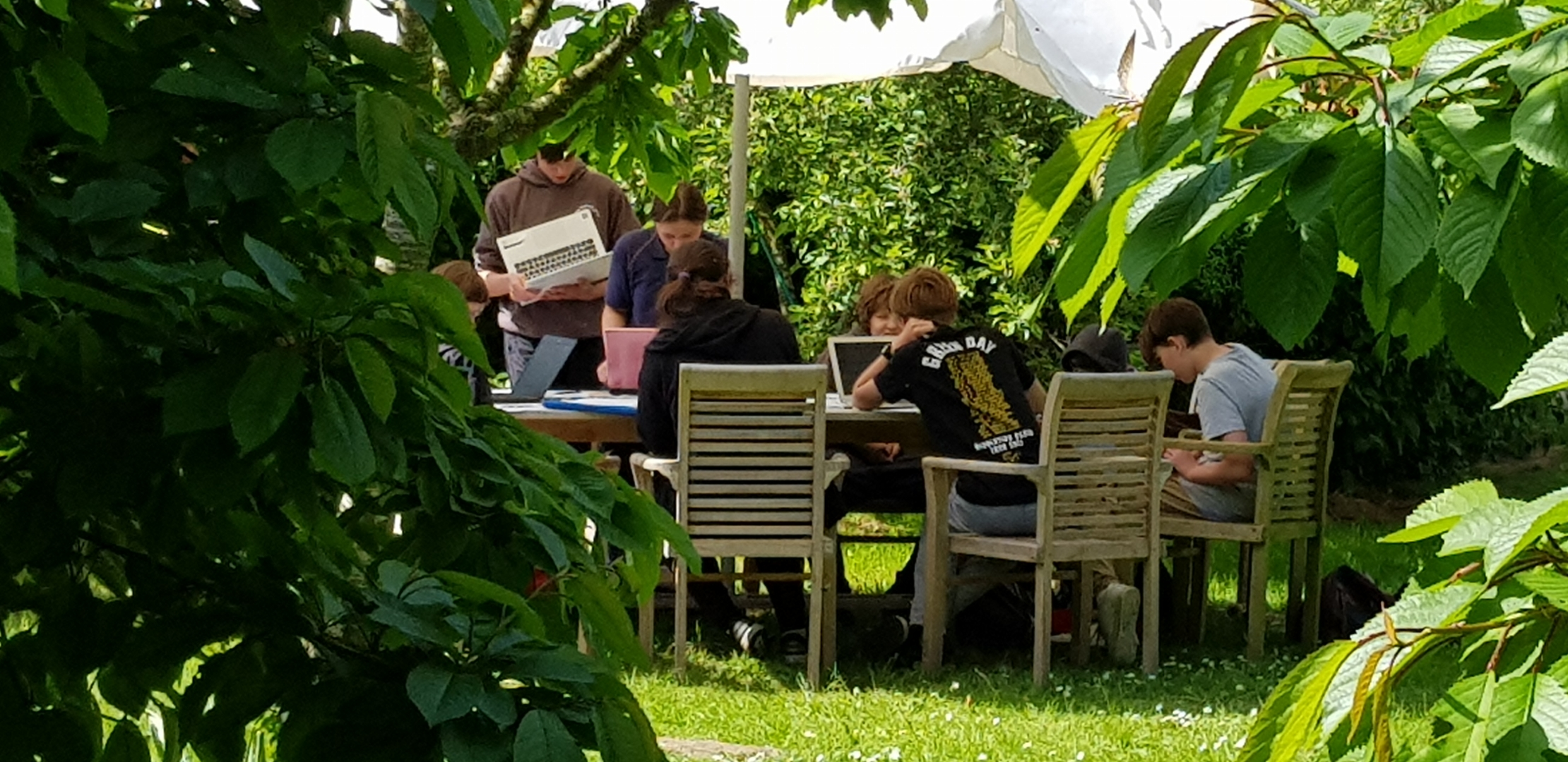 IT lessons outdoors