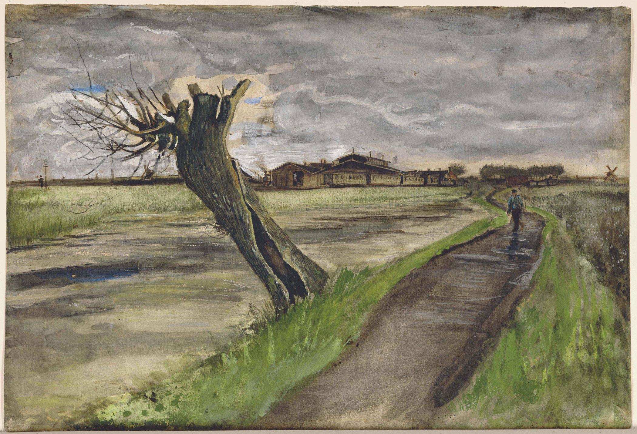 Original Van Gogh painting, Pollard Willow
