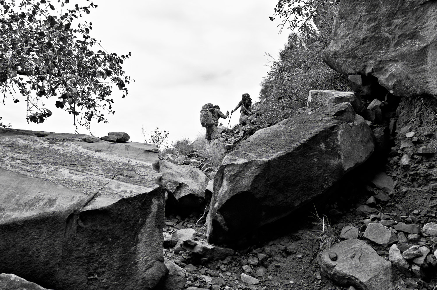 Boulders and Hikers, Hermit Trail | Mark Lindsay