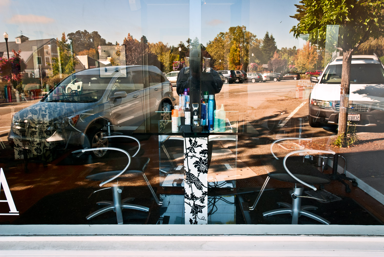 Split Portrait in Window   Mark Lindsay