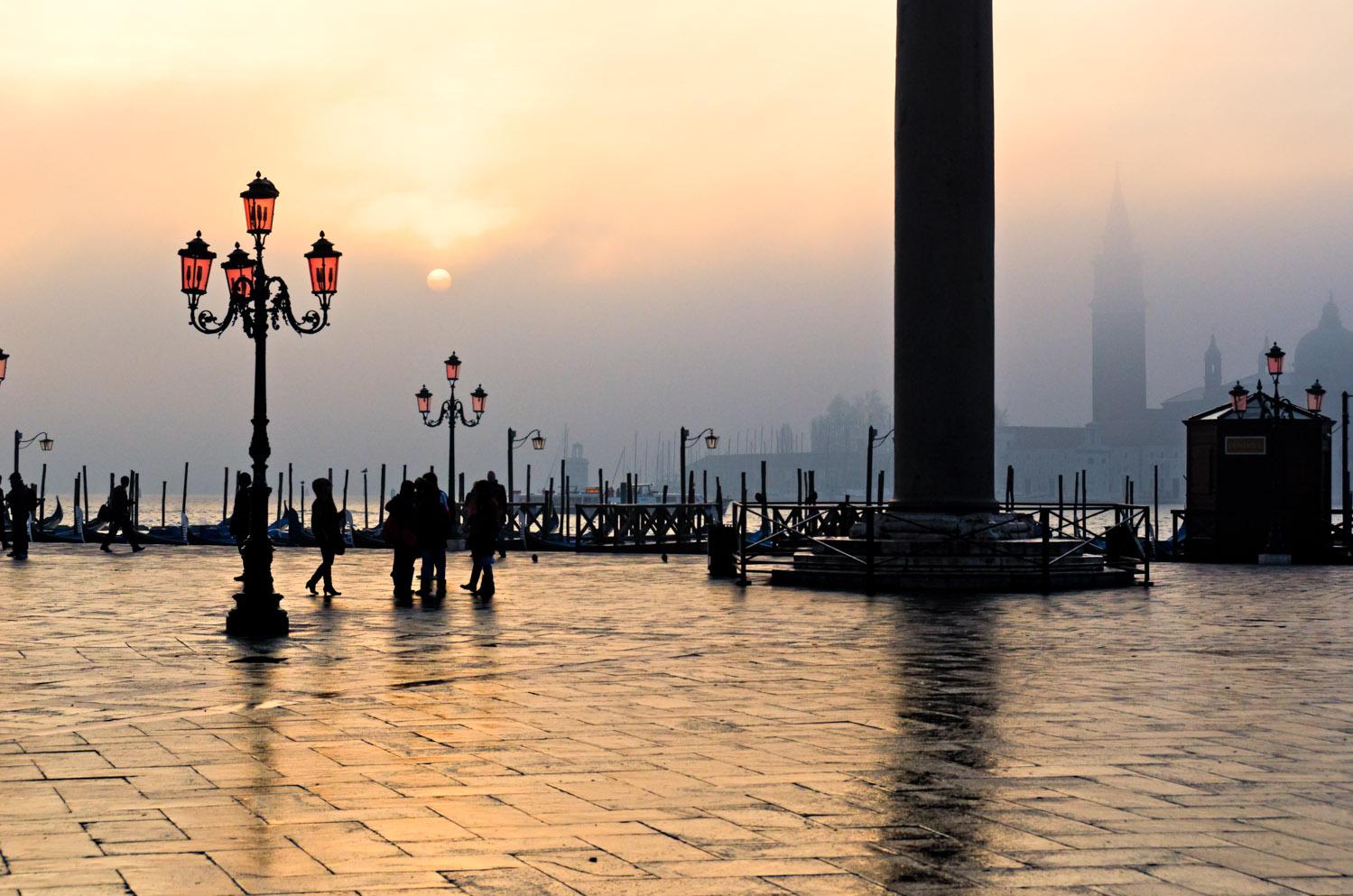 Sunrise over Fog, Piazetta San Marco