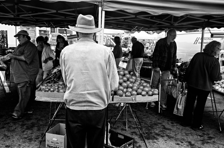 Man in a Fedora, Farmers Market | Mark Lindsay
