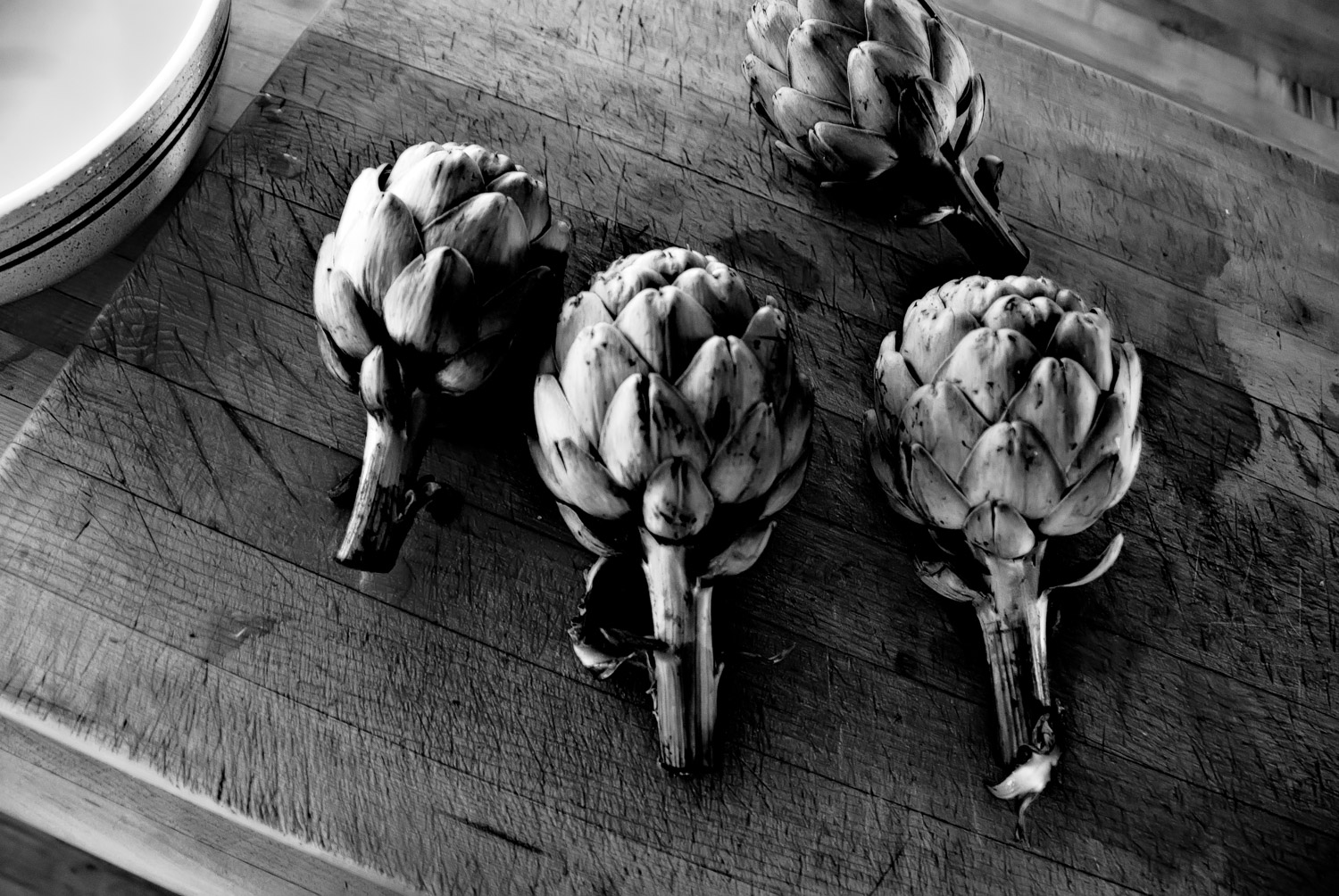 Artichokes and Cutting Board | Mark Lindsay