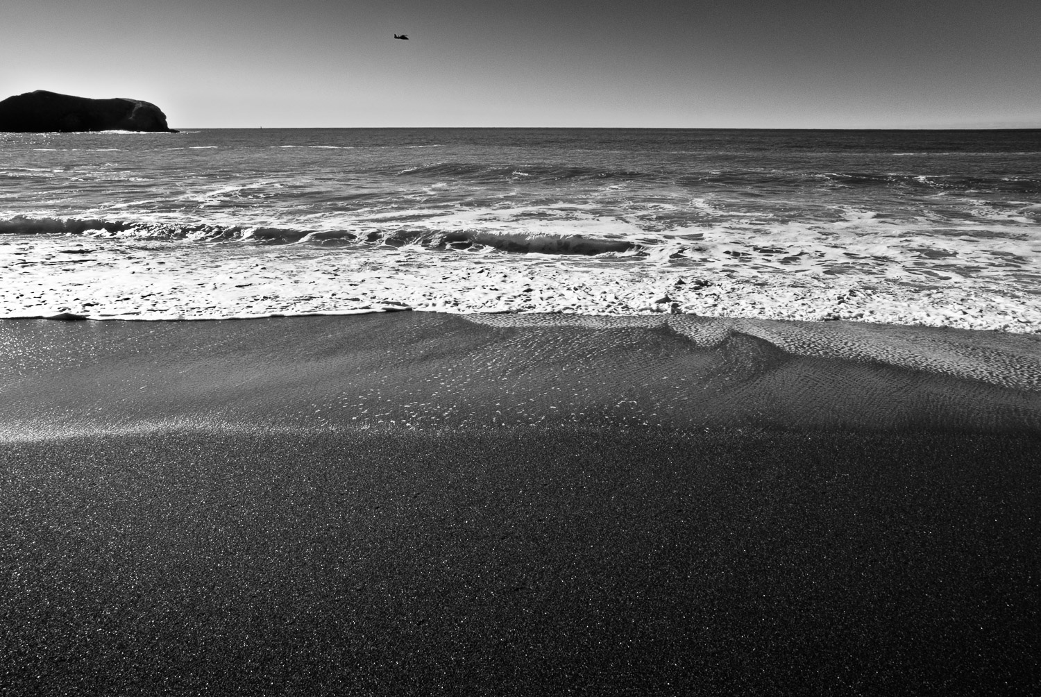 Beach, Rock, and Helicopter | Mark Lindsay