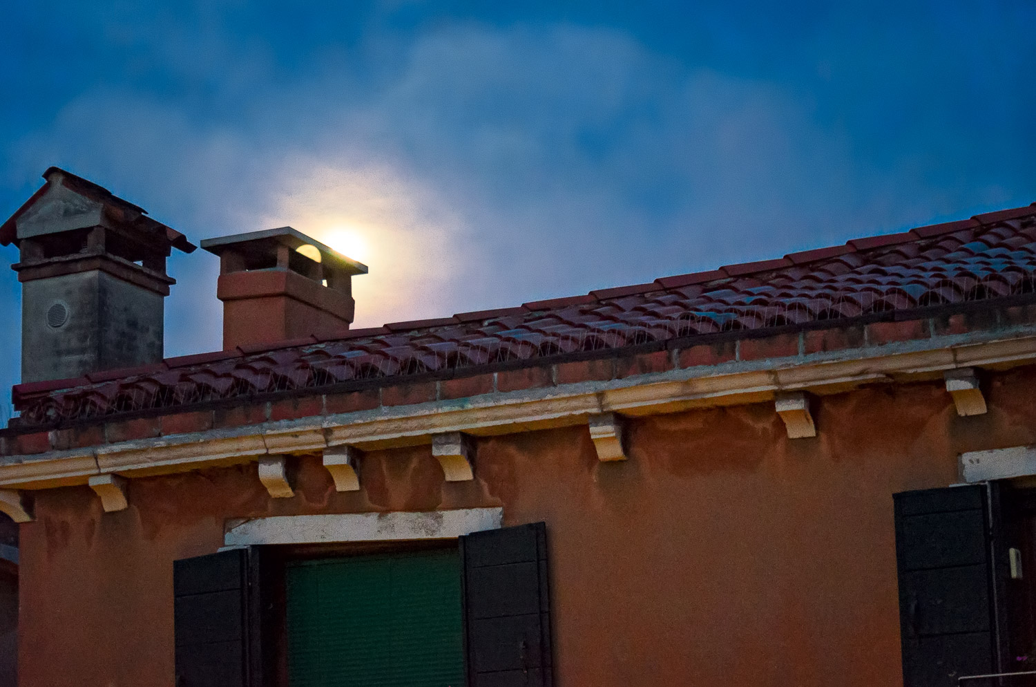 Venice Roof and Chimneys