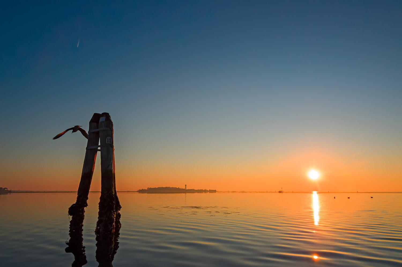 Venetian Lagoon at Sunset