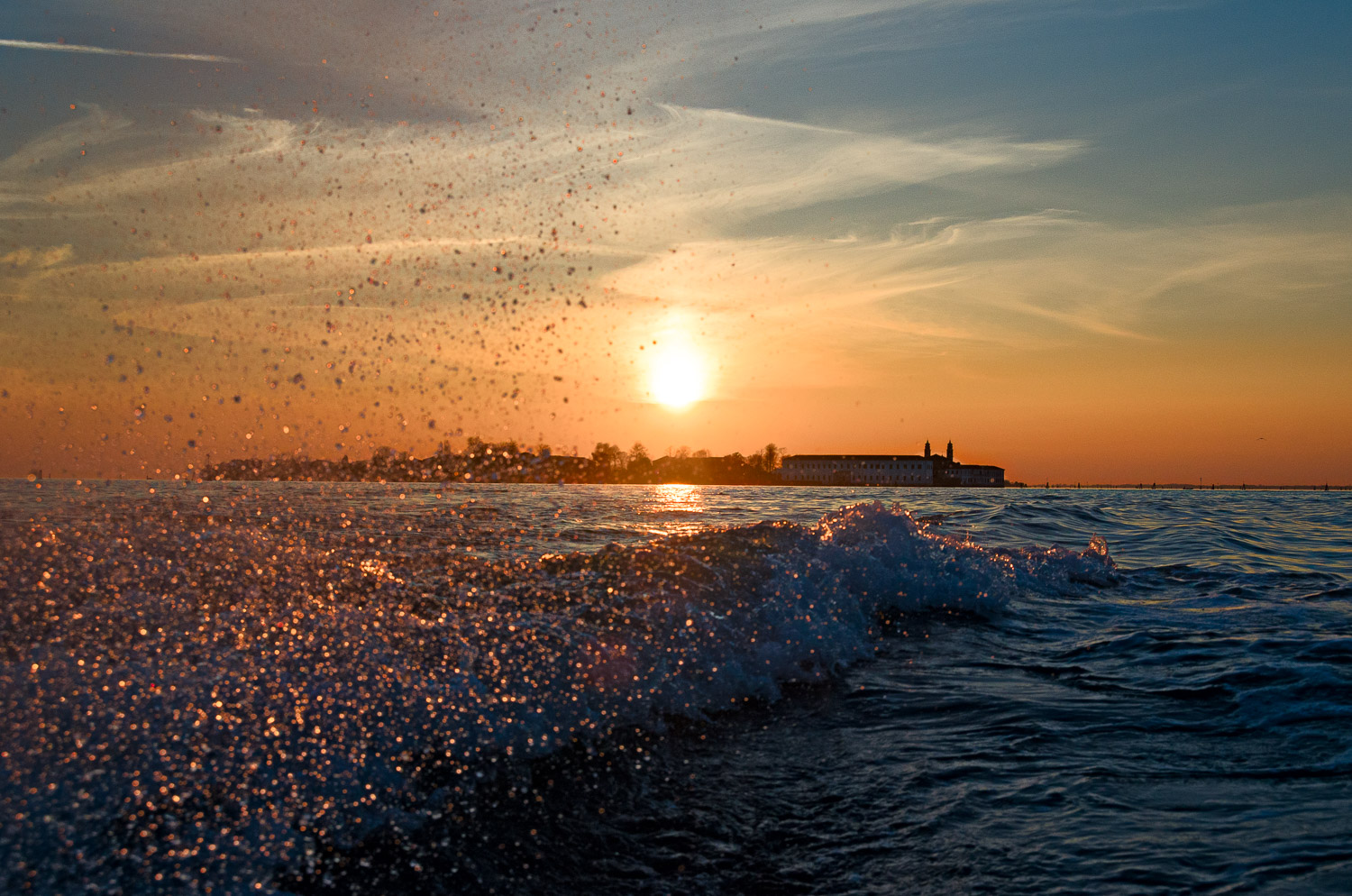 Spray and Sunset, New Year's Eve