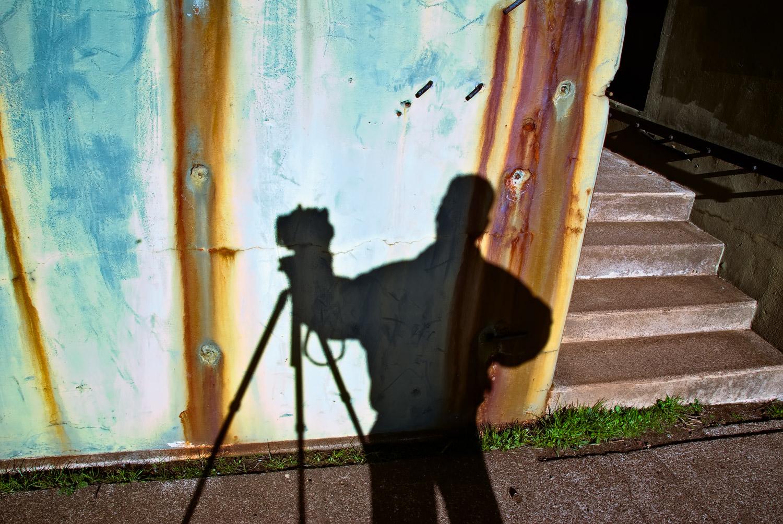 Self-Portrait at Bunker, Marin Headlands   Mark Lindsay