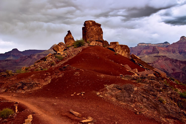 Pinnacle before Storm, Grand Canyon   Mark Lindsay