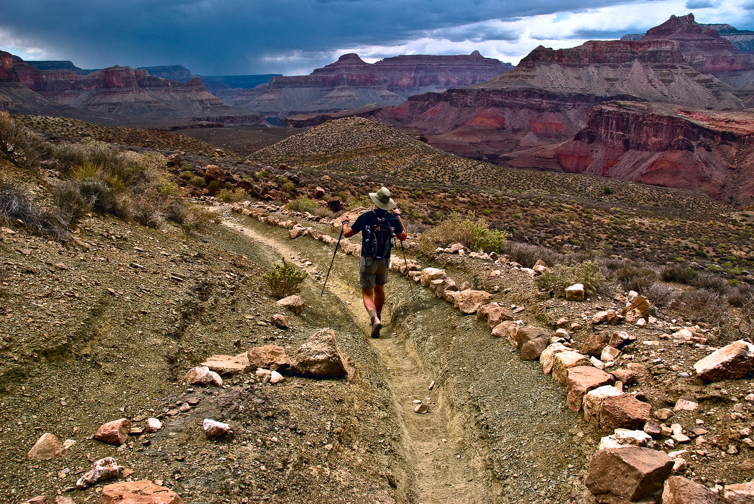 Impending Storm, South Kaibab Trail | Mark Lindsay