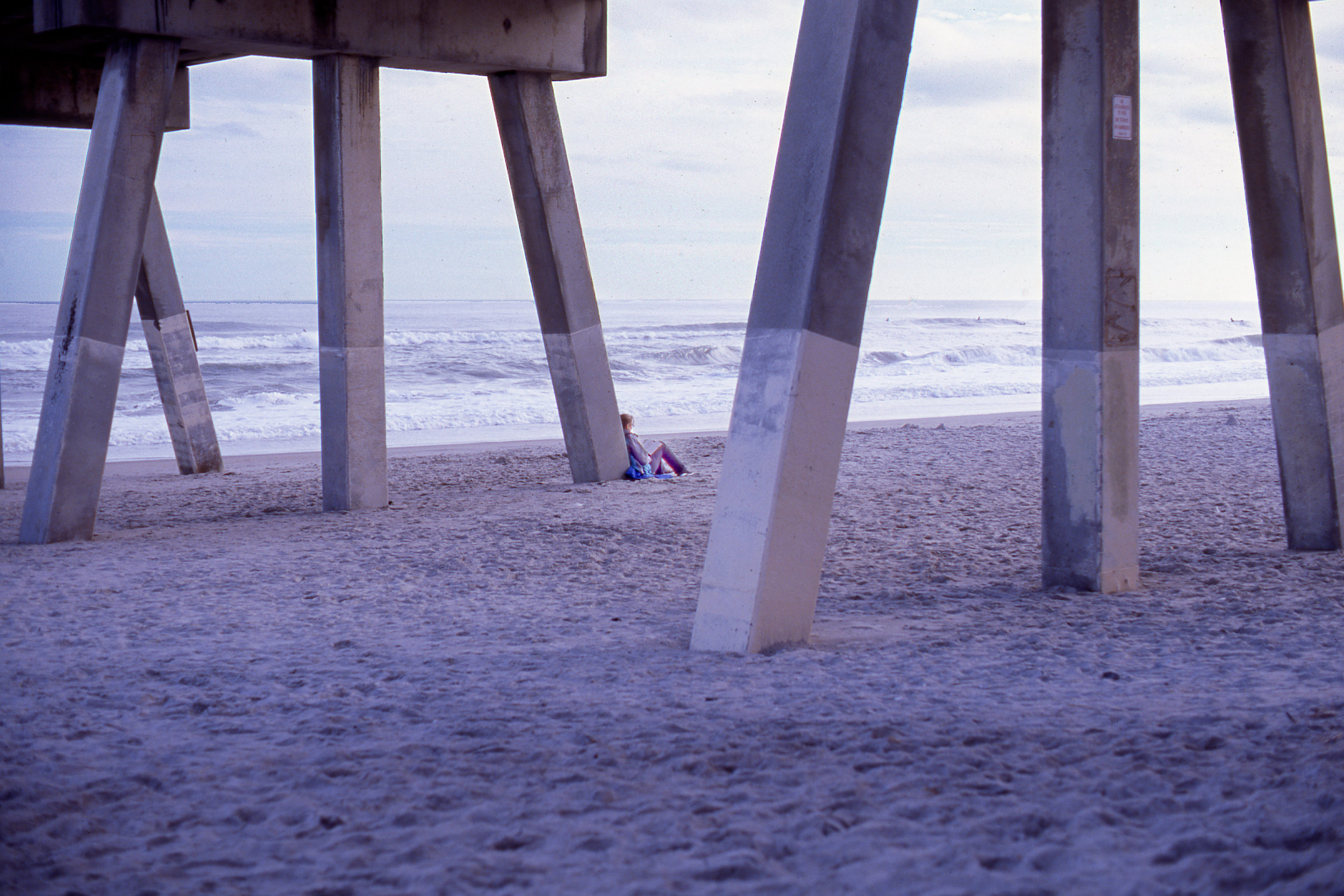 Shot this on new Kodak Ektachrome E100 underneath Wrightsville Beach Pier back in December.