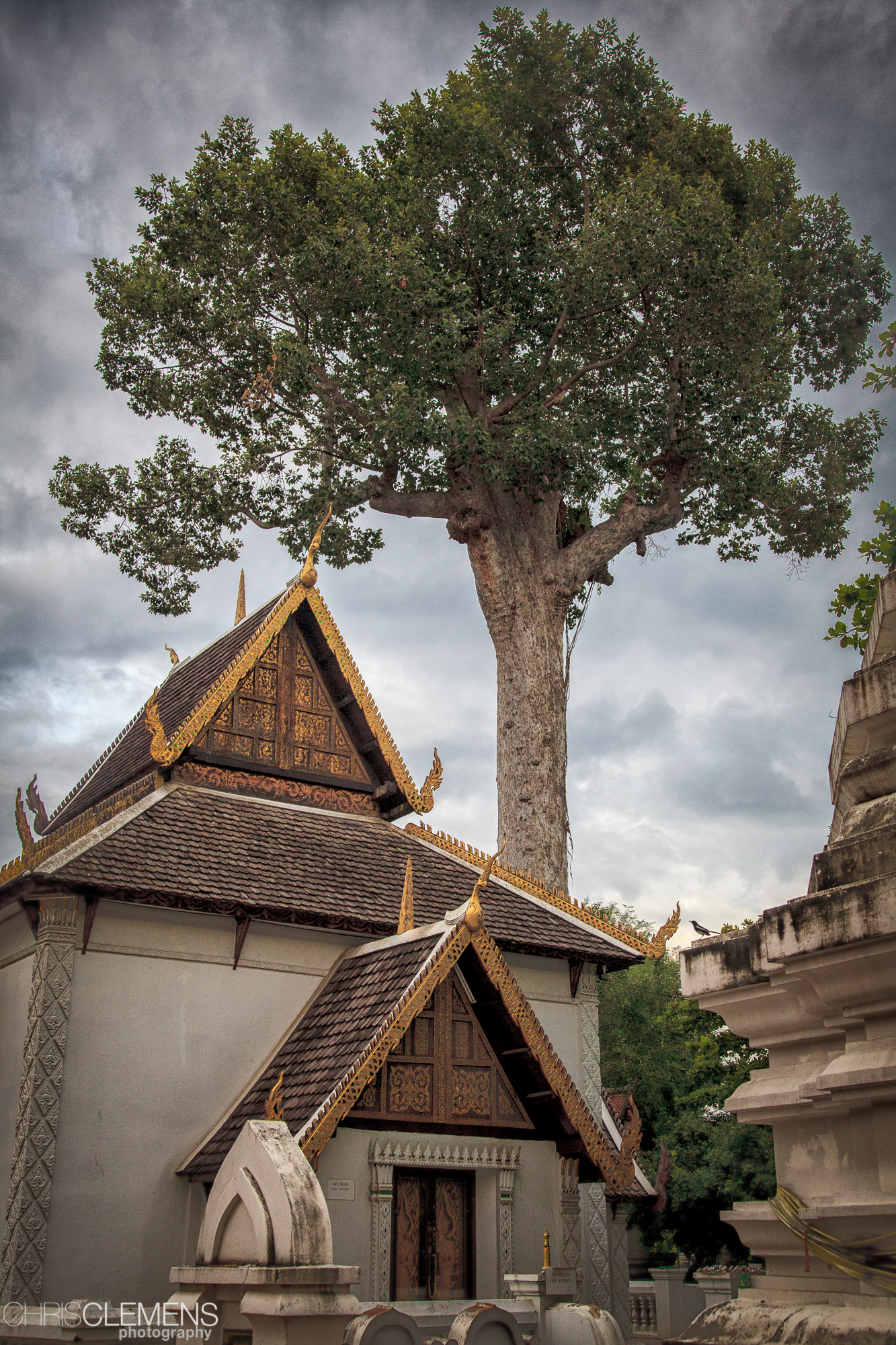Buddhist temple in Chiang Mai, Thailand.