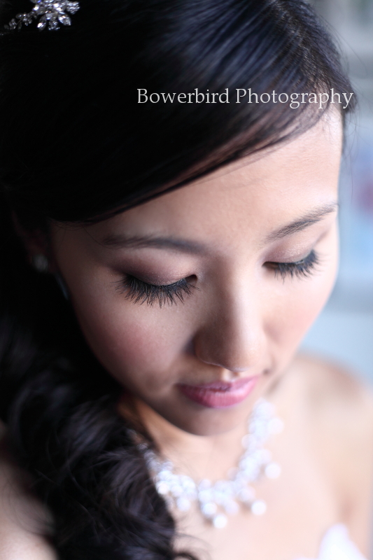 The beautiful bride prepares for her big day! © Bowerbird Photography 2012; Wedding Photography at Fogarty Vineyards, Woodside.