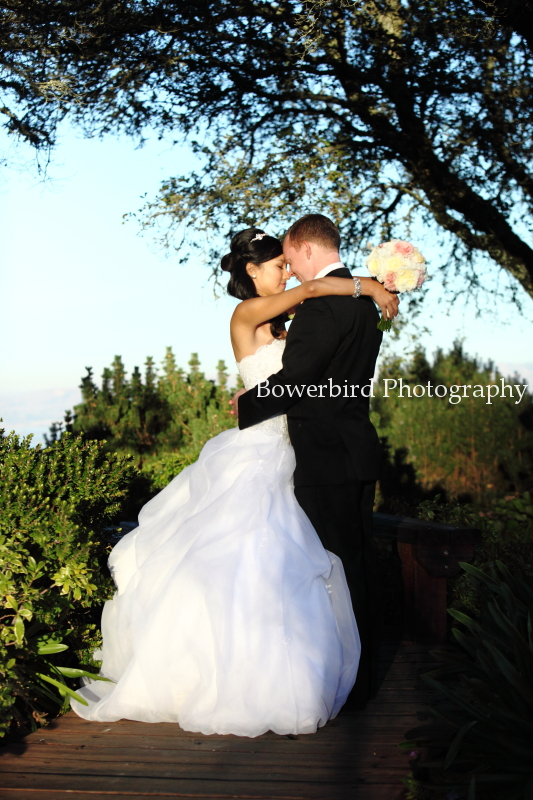 Such a perfect couple. © Bowerbird Photography 2012; Wedding Photography at Fogarty Vineyards, Woodside.