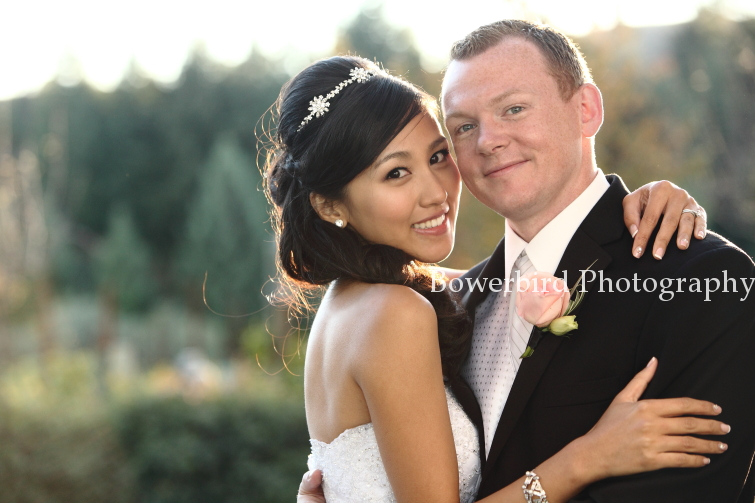 Happy love birds! © Bowerbird Photography 2012; Wedding Photography at Fogarty Vineyards, Woodside.