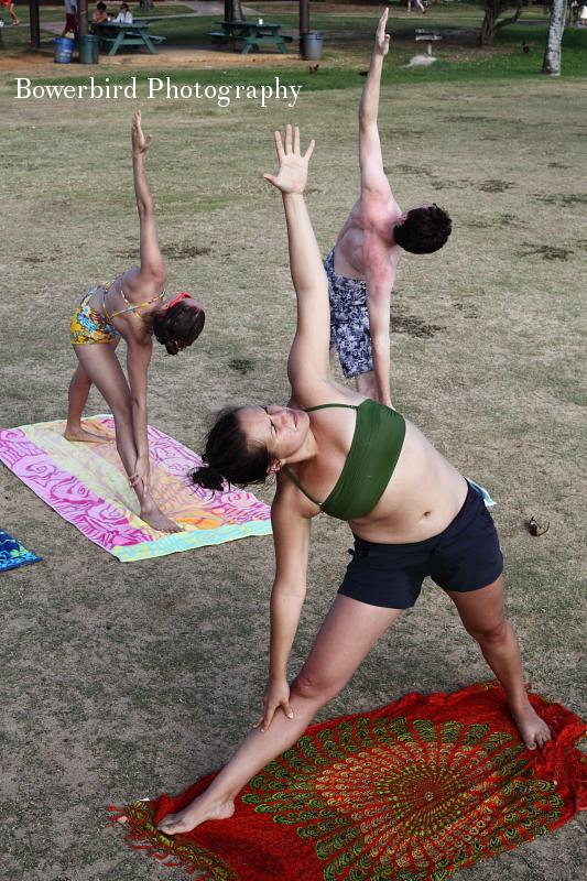 Private yoga lesson on Poipu Beach with Kore + Matt.©Bowerbird Photography 2012; Travel Photography, Kauai, Hawaii.