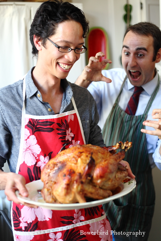 Two hams and a turkey! © Bowerbird Photography 2012; Thanksgiving in San Francisco.