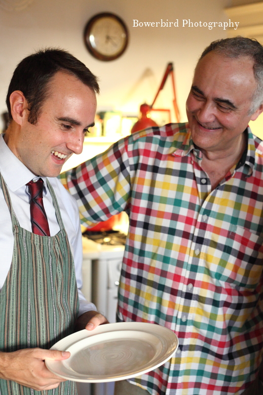 Liam and dad getting excited to chow down. ©Bowerbird Photography 2012; Thanksgiving in San Francisco.