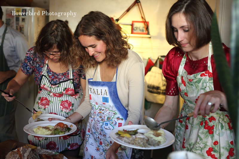 The feast begins. ©Bowerbird Photography 2012; Thanksgiving in San Francisco.