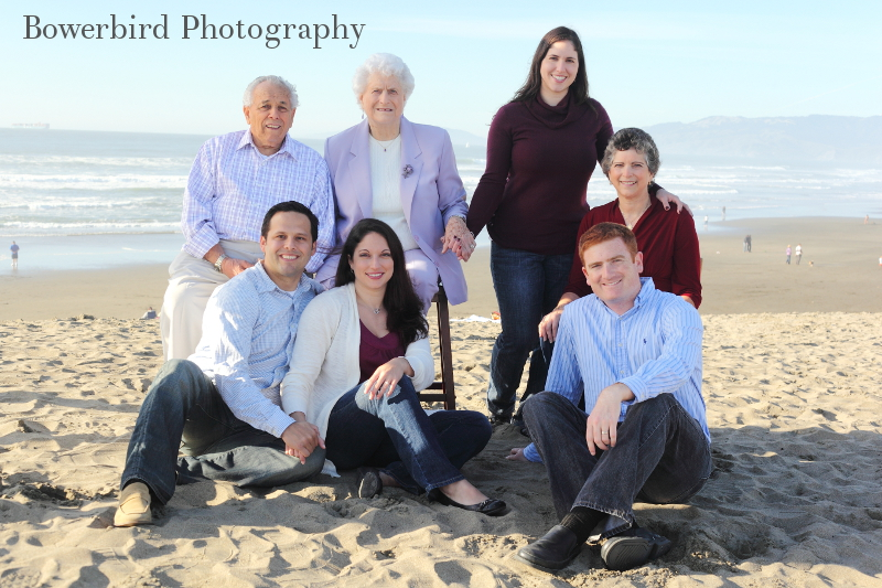 All together now! © Bowerbird Photography 2012; Family Photography at Ocean Beach, San Francisco.