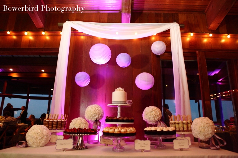 Sweet Tooth Confections with their irresistible table of treats. © Bowerbird Photography 2012; Wedding Photography at Fogarty Vineyards, Woodside.