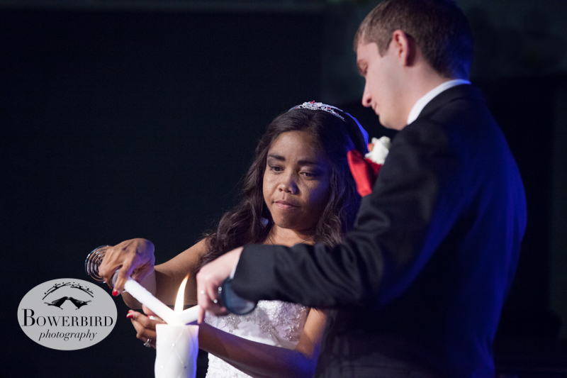 Lighting the unity candle.© Bowerbird Photography 2012; Wedding Photography in Dublin, CA.