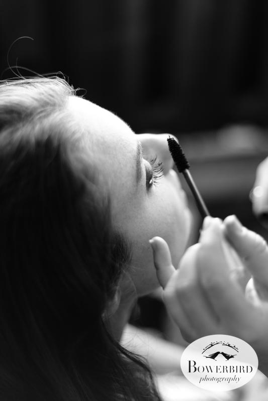 The bride, Eileen, getting her makeup done. © Bowerbird Photography 2012; Wedding Photography at Larkspur, Marin.