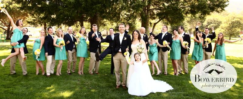 This wedding party is ready to party!© Bowerbird Photography 2012; Wedding Photography at Larkspur, Marin.