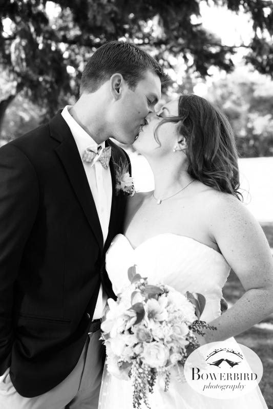 Sealed with a kiss. © Bowerbird Photography 2012; Wedding Photography at Larkspur, Marin.