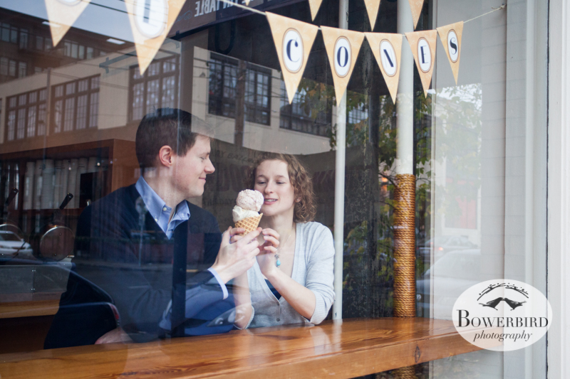 It's never too cold out for ice cream! © Bowerbird Photography 2012; Couple's Photography in Seattle.
