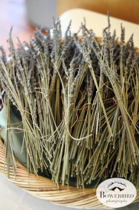 Bunches of local lavender. © Bowerbird Photography 2013;Mill Valley Community Center Wedding, Mill Valley.